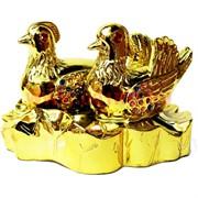Утки со стразами под золото из полистоуна