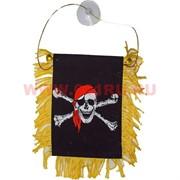 "Баннер присоска ""пиратский флаг"" цена за 12 шт"