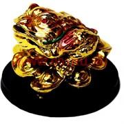 Жаба на слитках малая на подставке под золото