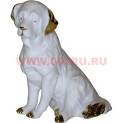 Белый фарфор Собака Ньюфаундленд 12 см (60 шт/кор) символ 2018 года