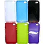 Чехол силиконовый на iPhone 4, цвета в ассортименте