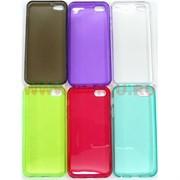 Чехол силиконовый прозрачный на iPhone 5, цвета в ассортименте