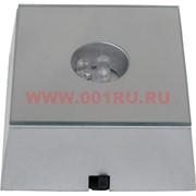 Подставка под кристалл квадратная на 3ААА батарейки зеркальная