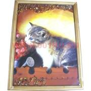 Картина из янтаря в простой темной рамке 35х45