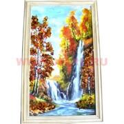 Картина из янтаря в простой светлой рамке 23х32