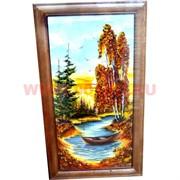 Картина из янтаря в простой темной рамке 34х52