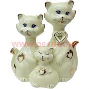 Семья котов из керамики (NS-900) 20,5 см
