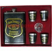Набор в коже с Флягой 9 унций Jack Daniels + 4 стаканчика (GT10-12)