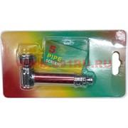 Трубка курительная «цветная» с сеточкой