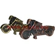 Зажигалка сувенирная «Мотоцикл с черепом» газовая