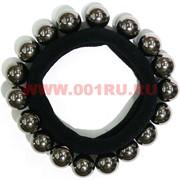 Резинка для волос (SDR-1393) с черными бусинами 100 шт/уп