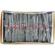 Шпильки для волос белые металлические 72 мм (SDR-1087) цена за 500 шт (2 размер)