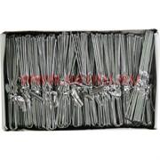 Шпильки для волос белые металлические 80 мм (SDR-1088) цена за 500 шт (3 размер)