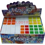 Кубик Головоломка 5,8 см с белым фоном Magic Cube