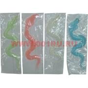 Лизун фосфорецирующий «змеи» цвета в ассортименте 45 шт/уп