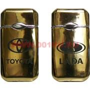 Зажигалка металлическая газовая турбо с логотипами автомобилей