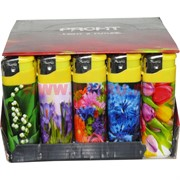 Зажигалка газовая Profit «цветы» 50 шт/бл