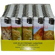 Зажигалка газовая Ognivo-Lighter «львы» 50 шт/бл