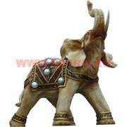 Слон светлый с поднятым хоботом 35 см из полистоуна