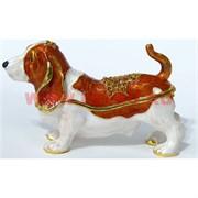 Собака Шкатулка со стразами «Бигль» (228)
