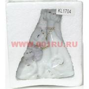 Собачки фарфоровые семья (KL-1704) символ года 14 см 3 цвета
