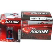 """Батарейки Souser """"крона"""" 6LR61 алкалиновая цена за 12 шт"""