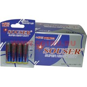 Батарейки Souser AA пальчиковые солевые цена за 48 шт