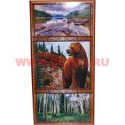 Нарды с рисунками 50x25 см из березы (медведь и другие)