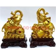 Два слона под золото 25 см из полистоуна (цена за пару)