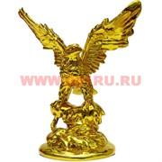 Орел 22 см из полистоуна под золото