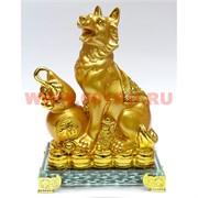 Собака полистоун (29) под золото 4 вида 17 см символ 2018 года
