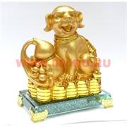 Собака на деньгах (25) под золото 4 вида 18 см символ 2018 года