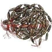 Бусины Дзи 9 глаз «дымчатые» цена за нитку из 8 шт