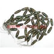 Бусины Дзи 3 глаза зеленые цена за нитку из 8 шт