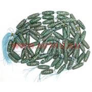 Бусины Дзи 9 глаз зеленые цена за нитку из 8 шт