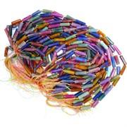 Бусины цилиндры для рукоделия цветные цена за нитку из 15 шт
