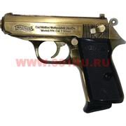Зажигалка сувенирная Walter 7.65 мм в кобуре и подарочной коробке
