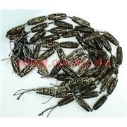 Бусины Дзи 9-глазая (цена за нитку из 8 штук)