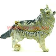 Шкатулка со стразами «Овчарка» (4528) Собака