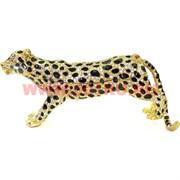 Шкатулка со стразами «Леопард с черными пятнами» (4975)