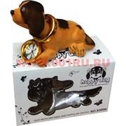 Собачка с качающейся головой с часами в индивидуальной упаковке