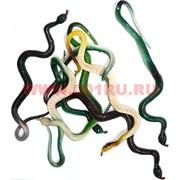 Игрушечная змея резиновая цветная 72 шт/уп