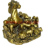 Лошадь под бронзу с животными зодиака из полистоуна (1282)