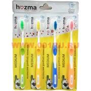 Зубные щетки Hozma средней жесткости цена за 4 шт