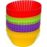 Силиконовые формы (2335) для кексов 24 шт/уп 4 цвета (100 уп/кор)