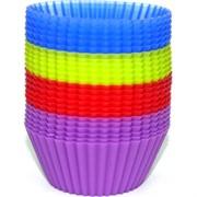 Силиконовые формы (2335) для кексов 24 шт/уп 4 цвета 96 уп/кор