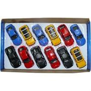 Машинки Кингсмарт 12 шт/уп седаны и джипы