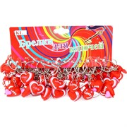 Брелок Сердце (KL-925A) Love резиновый цена за 120 шт (2400 шт/кор)