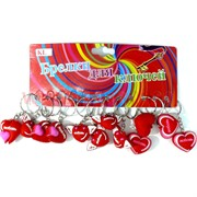Брелок Сердце (KL-992) Любовь резиновый цена за 120 шт (2400 шт/кор)
