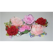 """Заколка """"Розы"""" с бусинками (4 цвета в ассортименте) ручной работы"""
